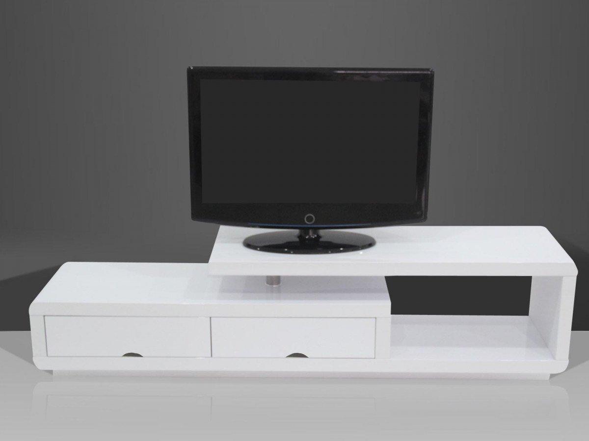 Banc Tv Design Laque Blanc Giulia 1015