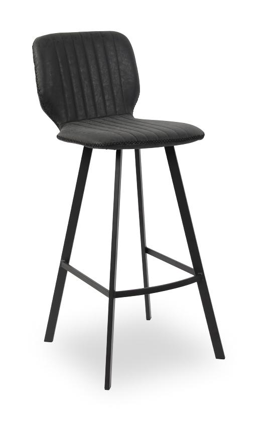 Chaise de bar industrielle noire YANKEES
