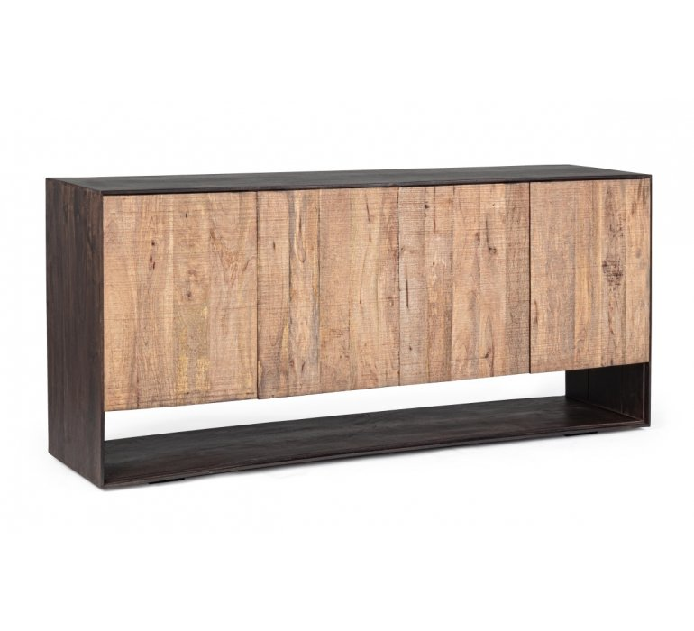 Buffet bois massif contemporain 4 portes HUNTER