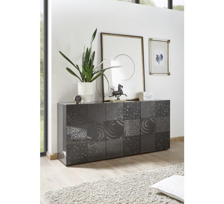 Buffet anthracite design avec motifs design MARANELLO