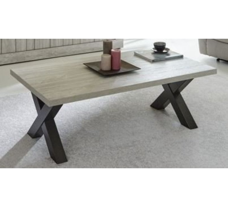 Table basse chêne gris clair contemporain LIBERTY