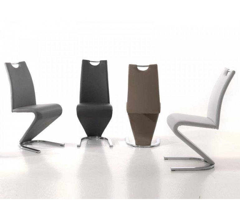 Chaise design piétement en Z simili cuir PALERME