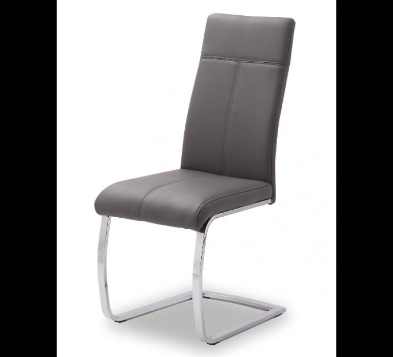 Chaise design avec piétement en métal chrome TOSCANE