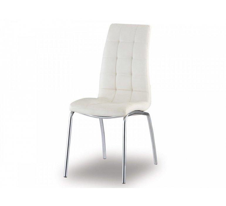 Chaise capitonnée blanche moderne VEDETTE