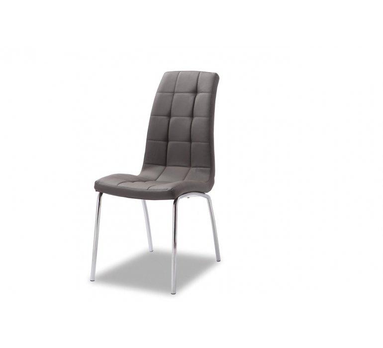 Chaise capitonnée grise moderne VEDETTE