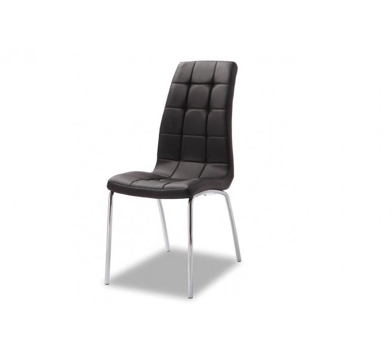 Chaise capitonnée noire moderne VEDETTE