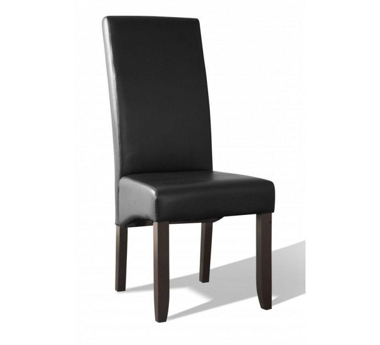 Chaise PU marron ou noir contemporain CELLIAN