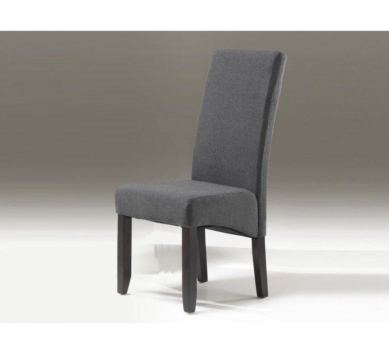 Chaise tissu anthracite ou taupe contemporain JACOB