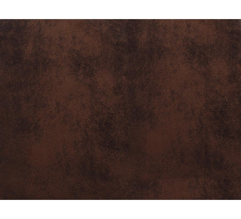 Chaise suédine effet vieilli marron contemporain LEONY