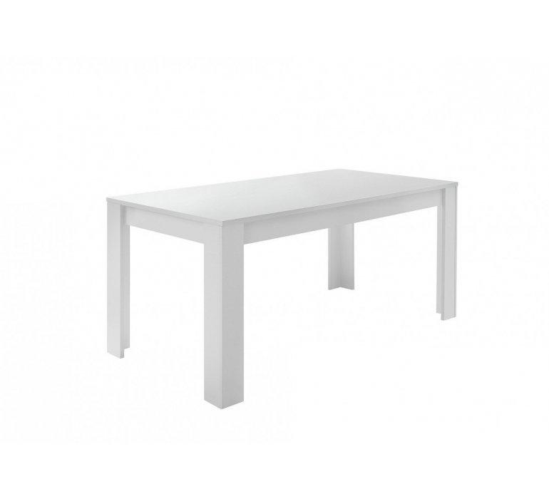 Salle à manger blanc laqué et effet béton design JULIO