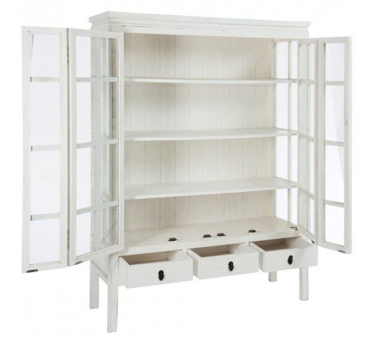 Vaisselier bois blanc style asiatique PEKIN