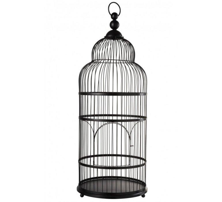 Cage en métal noir style asiatique MANDARIN