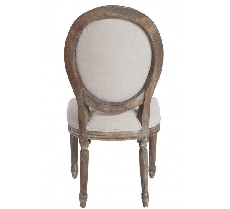 Chaise médaillon tissu beige LOUISON