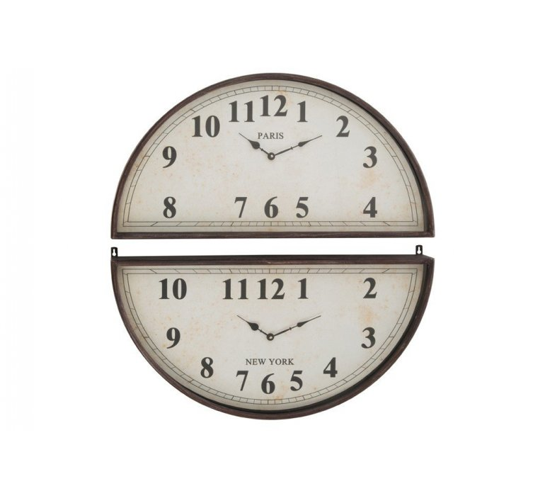 Horloge nord sud en métal bronze ELISABETH