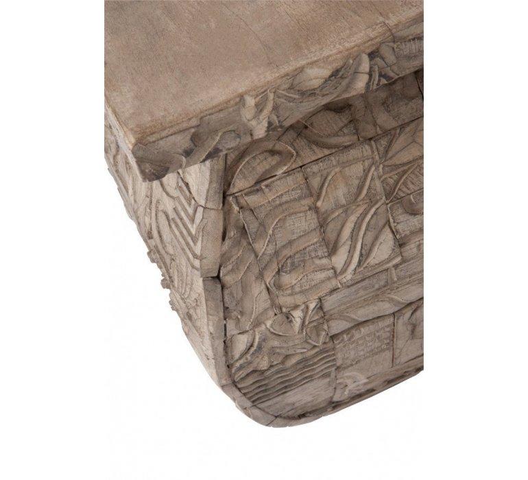 Table de salon carrée bois gris oriental KENITRA