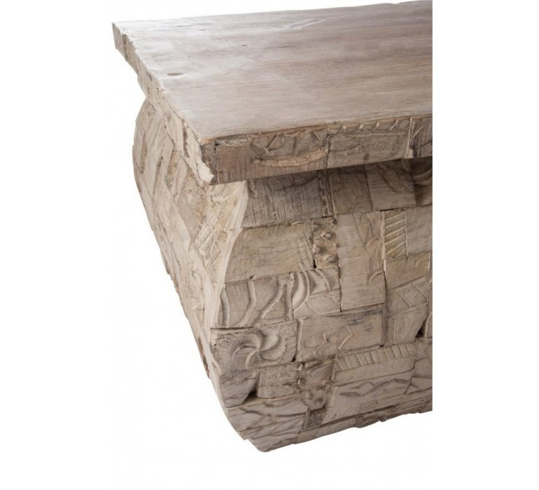 Table de salon rectangle bois gris oriental KENITRA