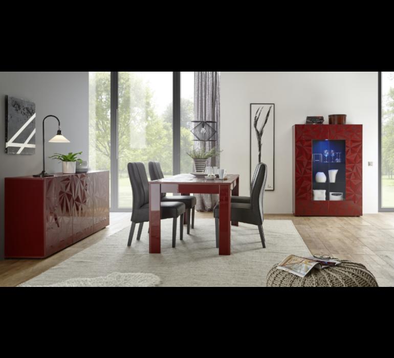 Vaisselier design rouge avec effet prisme RUBIS