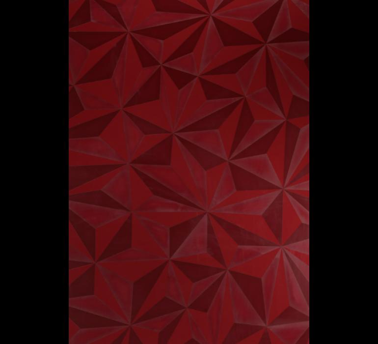 Meuble TV design rouge avec effet prisme RUBIS