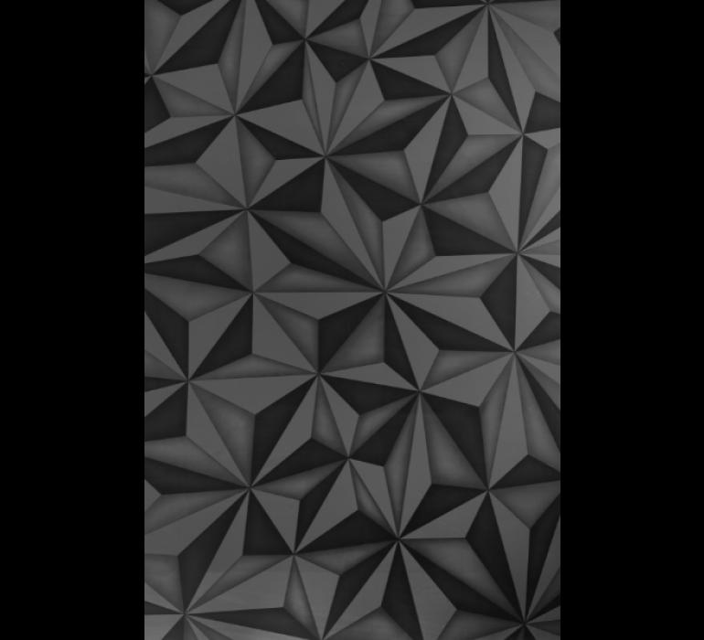 Meuble TV design gris anthracite avec effet prisme QUARTZ