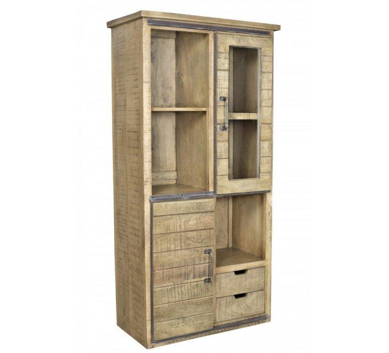 Vaisselier industriel bois et métal LOFT