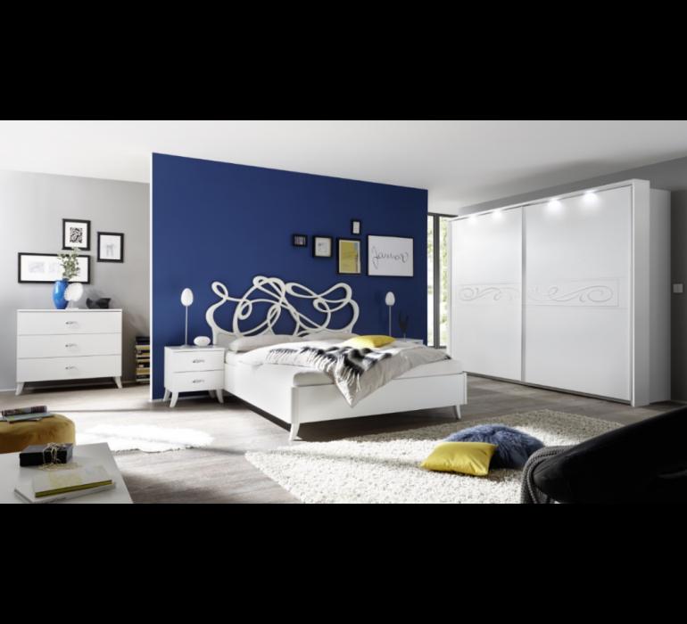 Chambre A Coucher Moderne Blanc Laque Dream 832