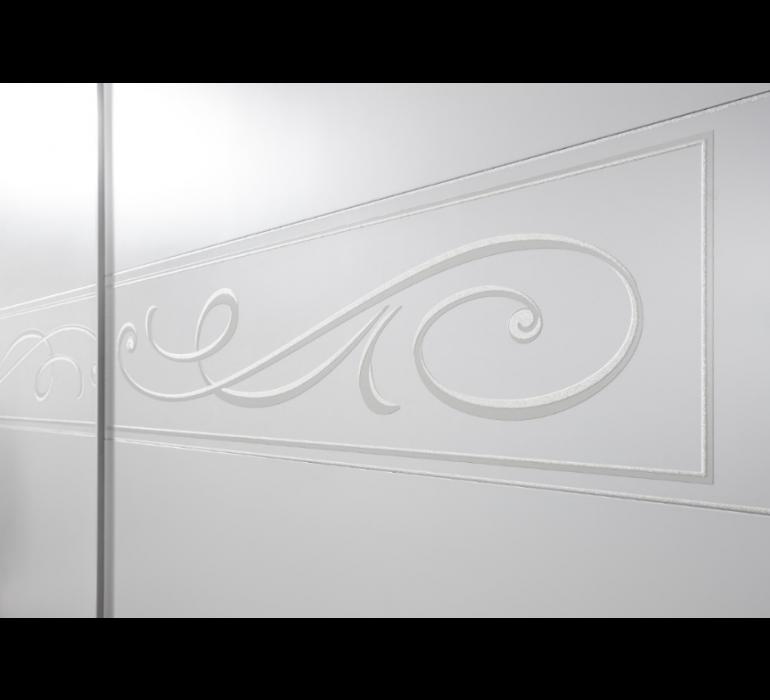 Armoire 2 portes coulissantes blanc laqué moderne DREAM