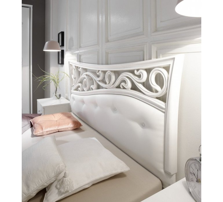 Chambre à coucher blanc laqué moderne PRETTY