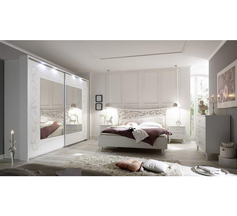 Chambre A Coucher Baroque Moderne Laque Blanc Pretty 841