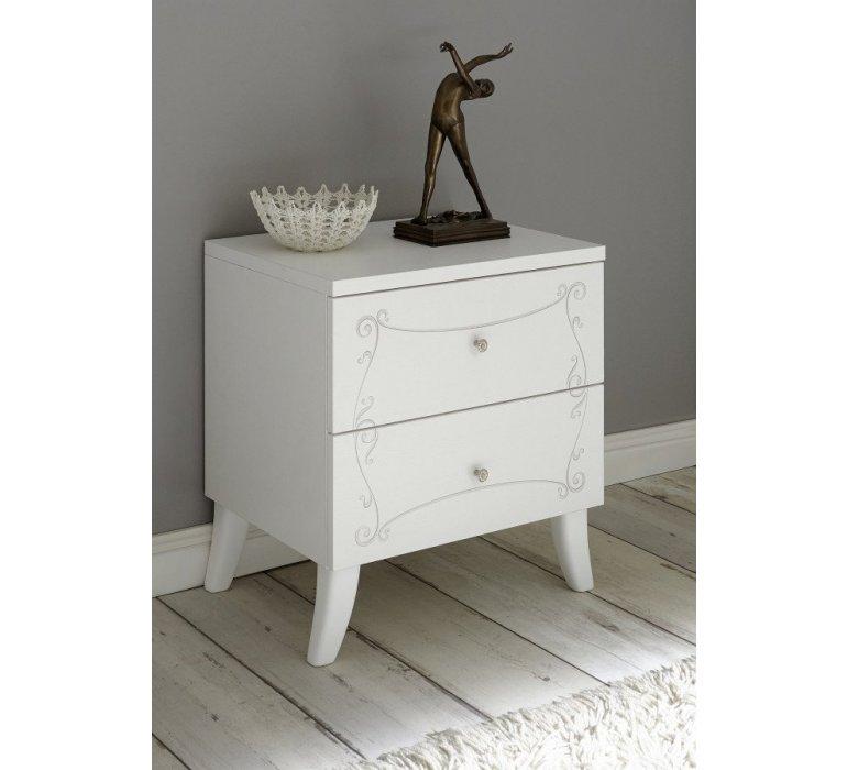 Chevet blanc laqué moderne PRETTY