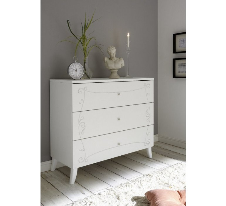 Commode blanc laqué moderne PRETTY
