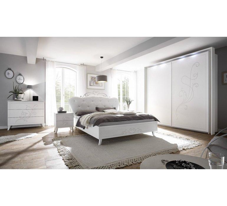 Chambre à coucher blanc laqué moderne QUEEN