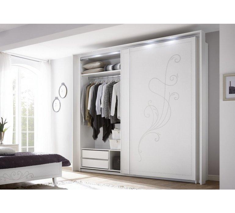 Armoire 2 portes coulissantes moderne QUEEN