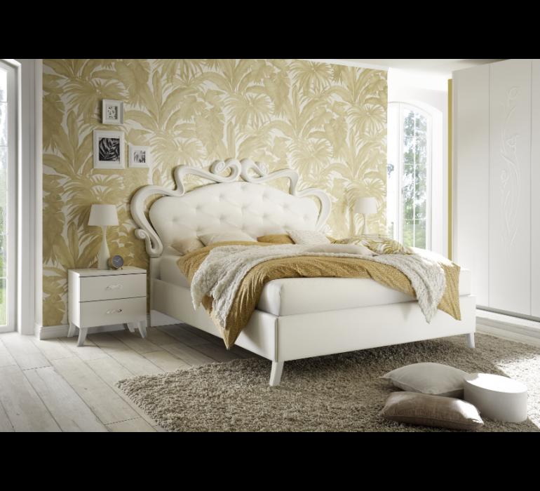 Chevet blanc laqué moderne ROYALE