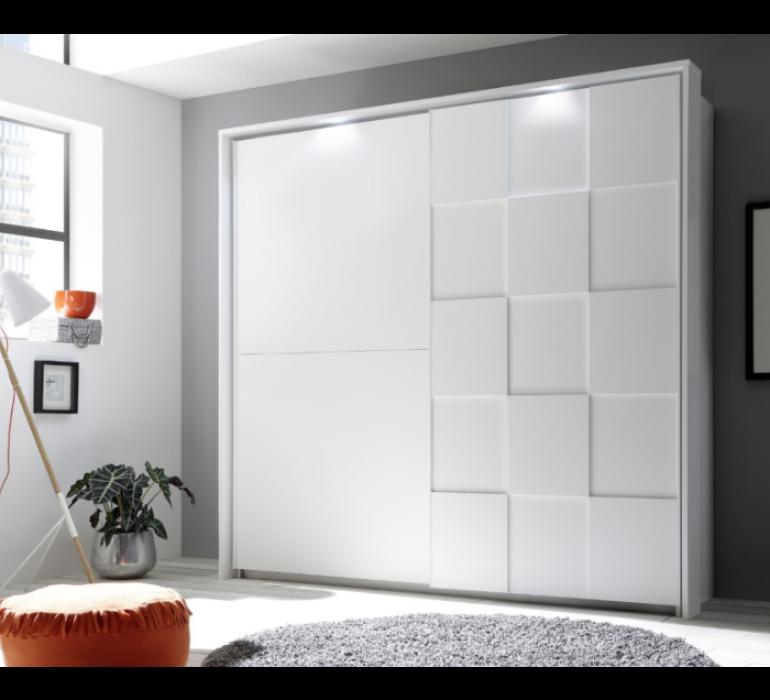 Armoire blanc laqué design LAZIO