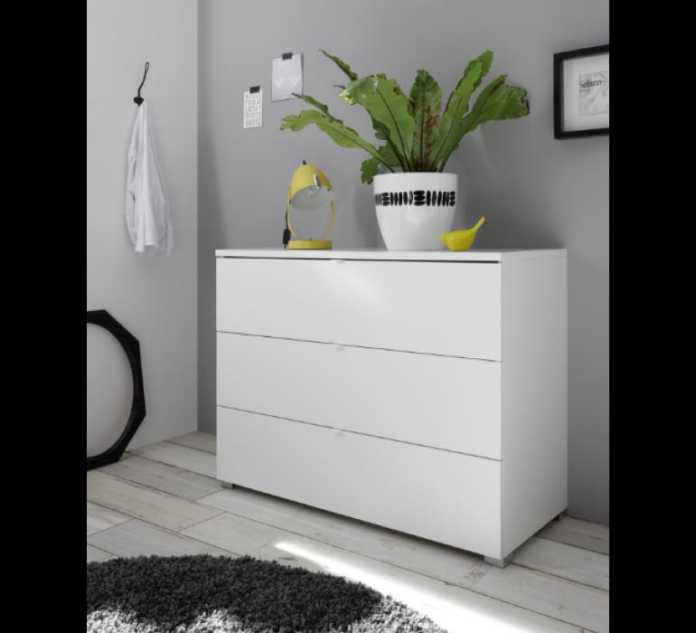 Commode blanc laqué design LAZIO