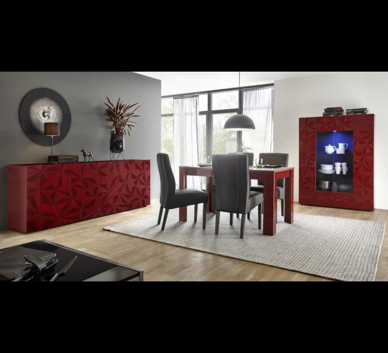 Bahut design rouge avec effet prisme RUBIS