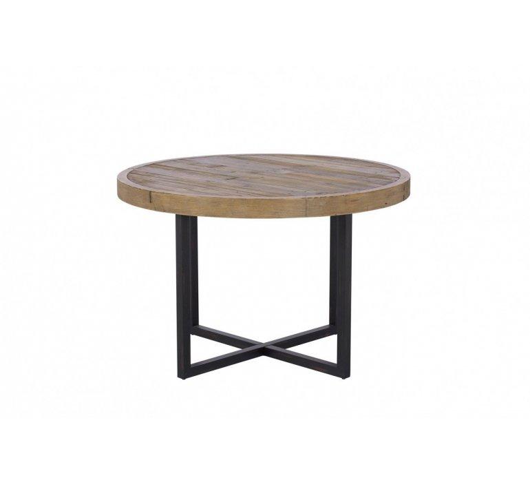 massif industriel ronde bois BROOKLYN Table gYvbf6I7y