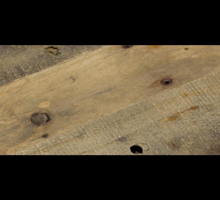 Banc TV industriel bois massif BROOKLIN