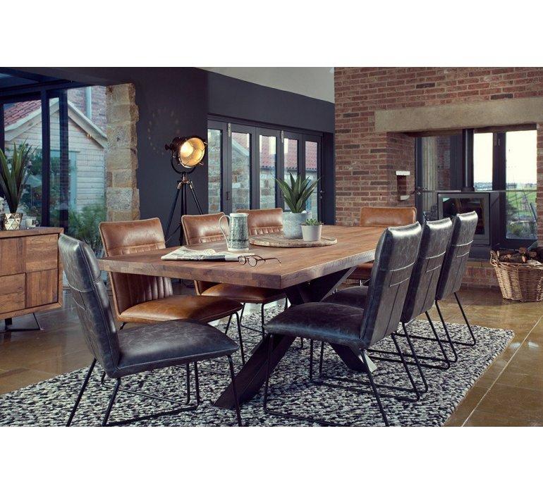 Table à manger rectangulaire avec piétement étoile moderne AMBASSADE