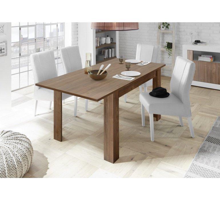 Table à manger bois coloris noyer moderne NAPOLI