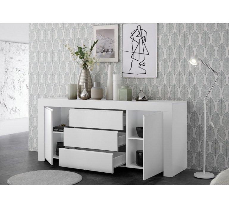 Bahut design blanc SORRENTE