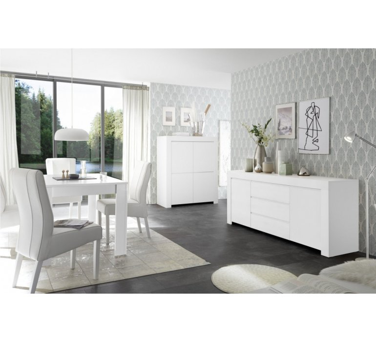 Buffet haut design blanc SORRENTE
