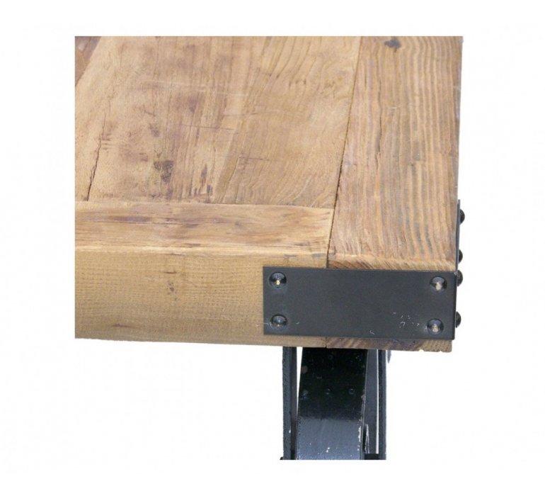 Table basse industrielle sur roulettes WHEEL