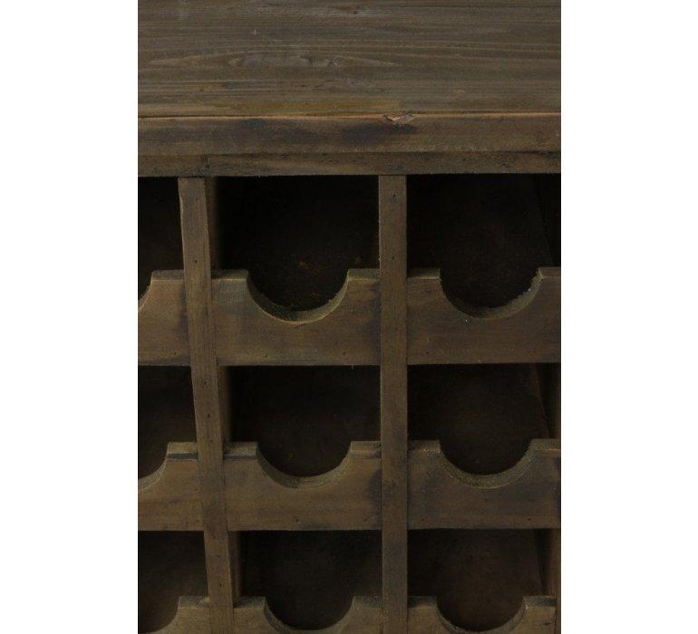 Meuble bar à vin apothicaire bois recyclé industriel OAKLAND