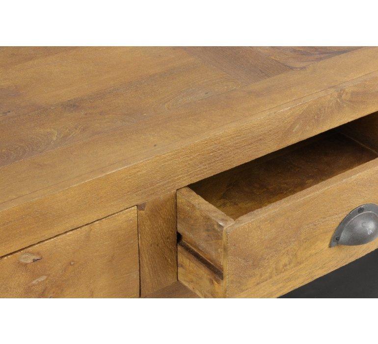 Console apothicaire bois recyclé industriel OAKLAND
