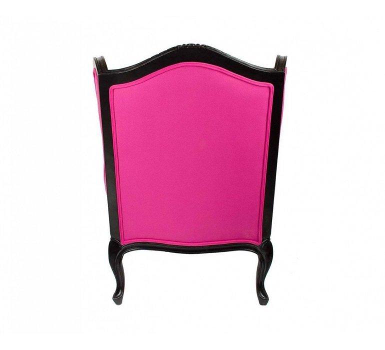 Fauteuil bergère rose et noir design PINKLADY