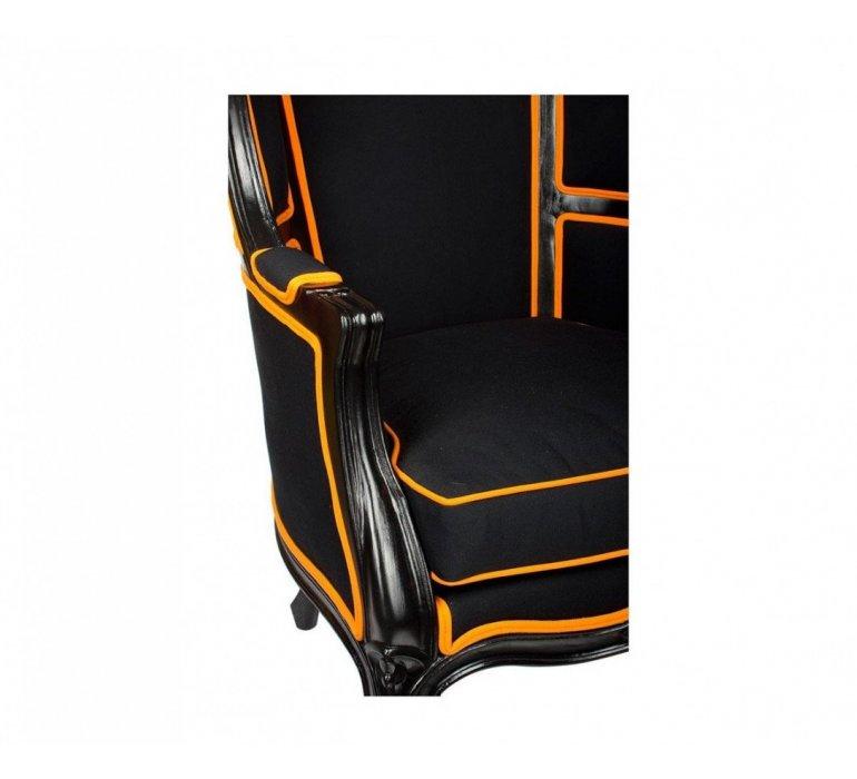 Fauteuil carrosse noir design COLORFULL