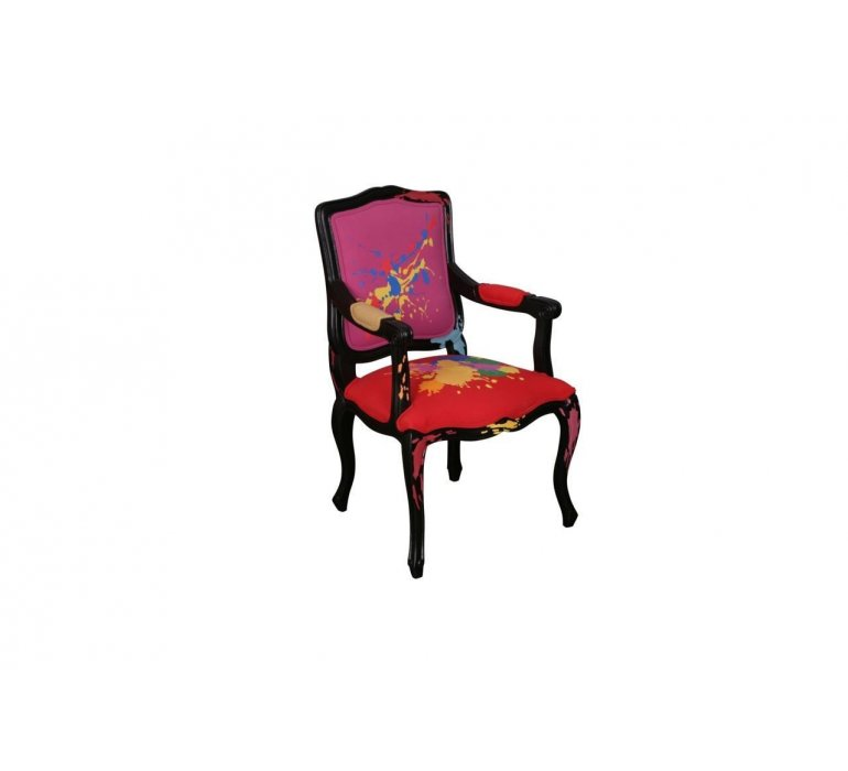 Fauteuil voltaire rouge design COLORFULL