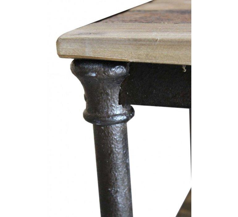 Console industrielle bois recyclé et métal LADDER