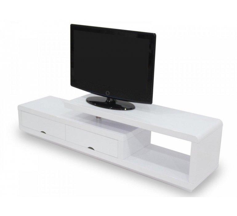 Meuble TV blanc laqué design GIULIA